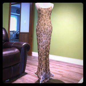 Vintage Silk Adrianna Papell Evening Gown